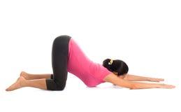 Abrandamento grávido da ioga do asiático Fotografia de Stock
