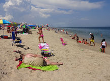 Abrandamento na praia imagens de stock