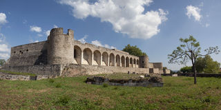 Abrantes Castle in Portugal. Panoramic view of the Castle of Abrantes in Portugal Stock Photos