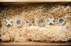 Abraços e beijos de XOXO Imagem de Stock
