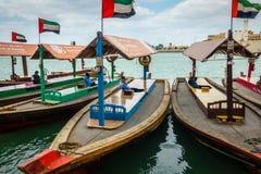 Abras on Dubai Creek Stock Photography