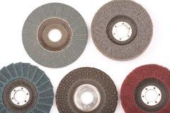 Abrasion wheel on white Stock Photography