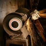 Abrasive cutting Royalty Free Stock Photography