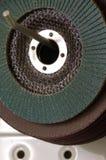 Abrasive discs sandpaper detail Stock Photos