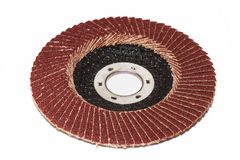 Abrasive disk. For grinder isolated on white Stock Photography