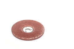 Abrasive disk for metal grinding isolated on white background Stock Image