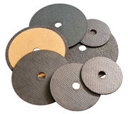 Abrasive disks for metal cutting Stock Image