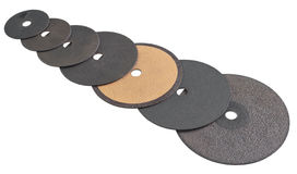 Abrasive disks for metal cutting Stock Photo