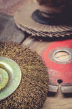 Abrasive disks for metal and stone grinding, cutting. Stock Images