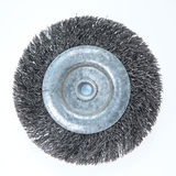 An Abrasive Drill Brush. Photographed over plain background Royalty Free Stock Image