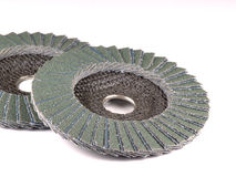 Abrasive flap disc. For grinder Royalty Free Stock Photo
