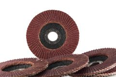 Abrasive flap discs. Royalty Free Stock Photos