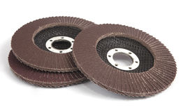 Abrasive flap discs Stock Photo