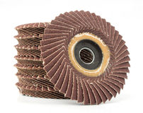 Abrasive flap discs Royalty Free Stock Images