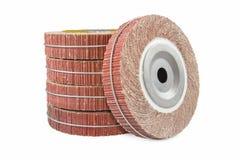 Abrasive flap wheel isolated Stock Photo