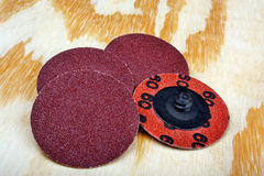 Abrasive sanding discs Royalty Free Stock Photo