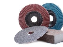 Abrasive wheels Stock Photo