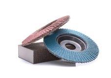 Abrasive wheels. Isolated on white background Royalty Free Stock Photography