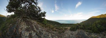Abrau半岛,储备Utrish 图库摄影