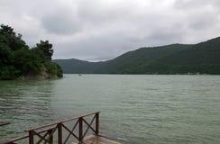 Abrau jezioro Zdjęcia Stock