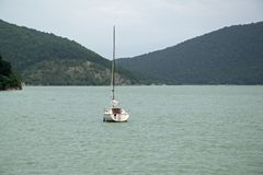 Abrau jezioro Zdjęcie Stock