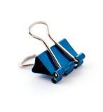 Abrazadera azul de la oficina Imagen de archivo libre de regalías