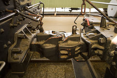 Abrazadera de la locomotora de vapor Imagenes de archivo