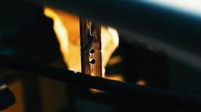Abrazadera de madera Imagen de archivo