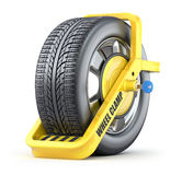 Abrazadera de rueda Foto de archivo libre de regalías