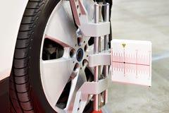 Abrazadera de rueda del sistema automotriz del diagnóstico y de análisis imagenes de archivo