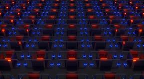 Abrazaderas abstractas 3d imagen de archivo