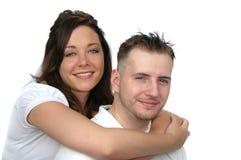 Abrazo atractivo de los pares Foto de archivo