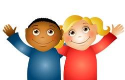 Abrazo de amigos de los niños