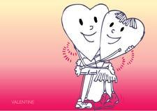 Abrazo de dos corazones Foto de archivo libre de regalías