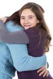 Abrazo de la madre y de la hija Foto de archivo
