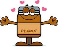 Abrazo de la mantequilla de cacahuete de la historieta Imagen de archivo libre de regalías