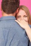 Abrazo de la mujer y del hombre Fotografía de archivo libre de regalías