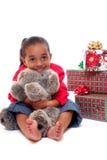 Abrazo de la Navidad Imagen de archivo