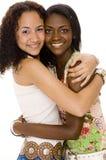 Abrazo de los amigos Foto de archivo libre de regalías
