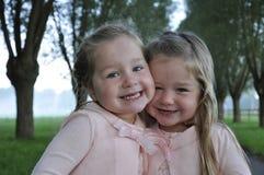 Abrazo de los gemelos fotografía de archivo