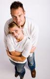 Abrazo de los pares Foto de archivo libre de regalías