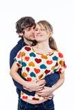 Abrazo de los pares Fotografía de archivo libre de regalías