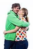 Abrazo de los pares Imagen de archivo libre de regalías