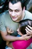Abrazo de los pares Foto de archivo