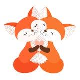 Abrazo del ejemplo del vector de la postal del Fox libre illustration