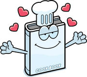 Abrazo del libro de cocina de la historieta stock de ilustración