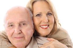 Abrazo del padre y de la hija Fotos de archivo libres de regalías