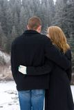 Abrazo feliz Foto de archivo libre de regalías