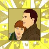 Abrazo joven de los pares Imagen de archivo