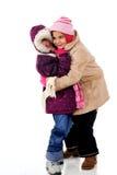Abrazos de la nieve Foto de archivo libre de regalías